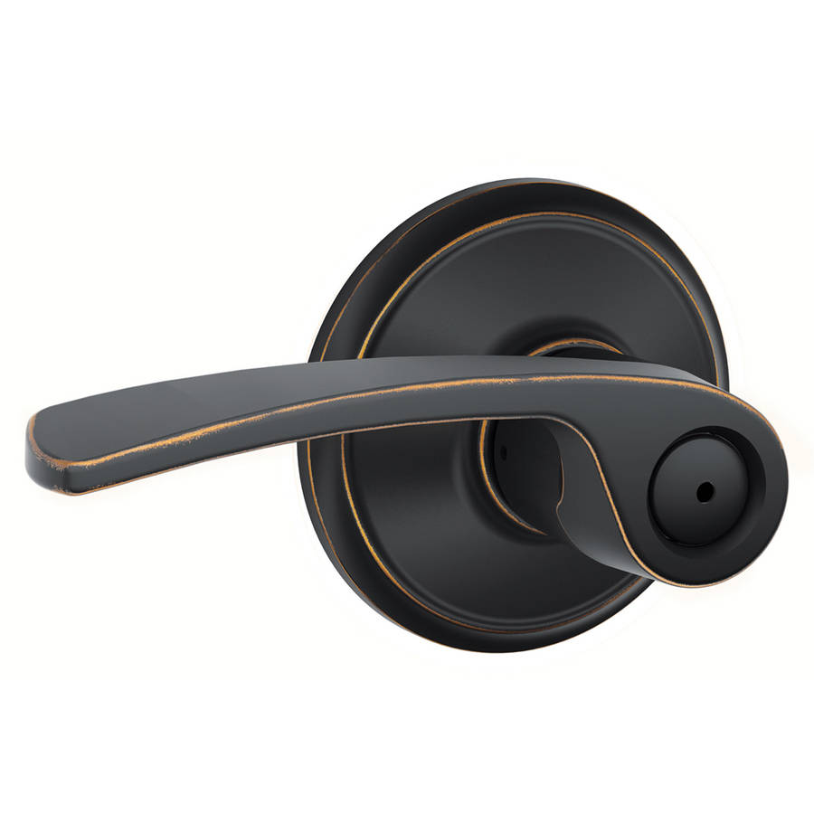 Schlage F40VMER716 Aged Bronze Merano Privacy Lever