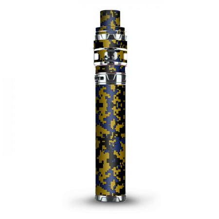 Digital Blue Mix Stick (Skin Decal Vinyl Wrap for Smok Stick Prince Kit TFV12 Prince Vape Kit skins stickers cover / Digi Camo Sports Teams Colors digital camouflage Blue Gold)