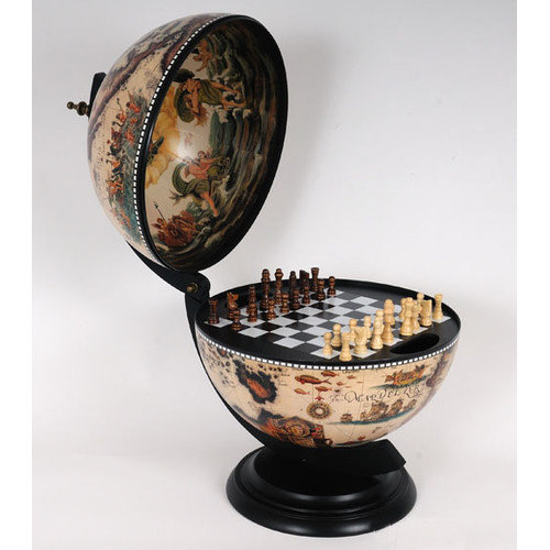 Old Modern Handicrafts White Globe with Chess Holder