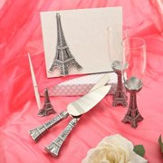 Fashioncraft Eiffel Tower Theme Wedding Accessory Set