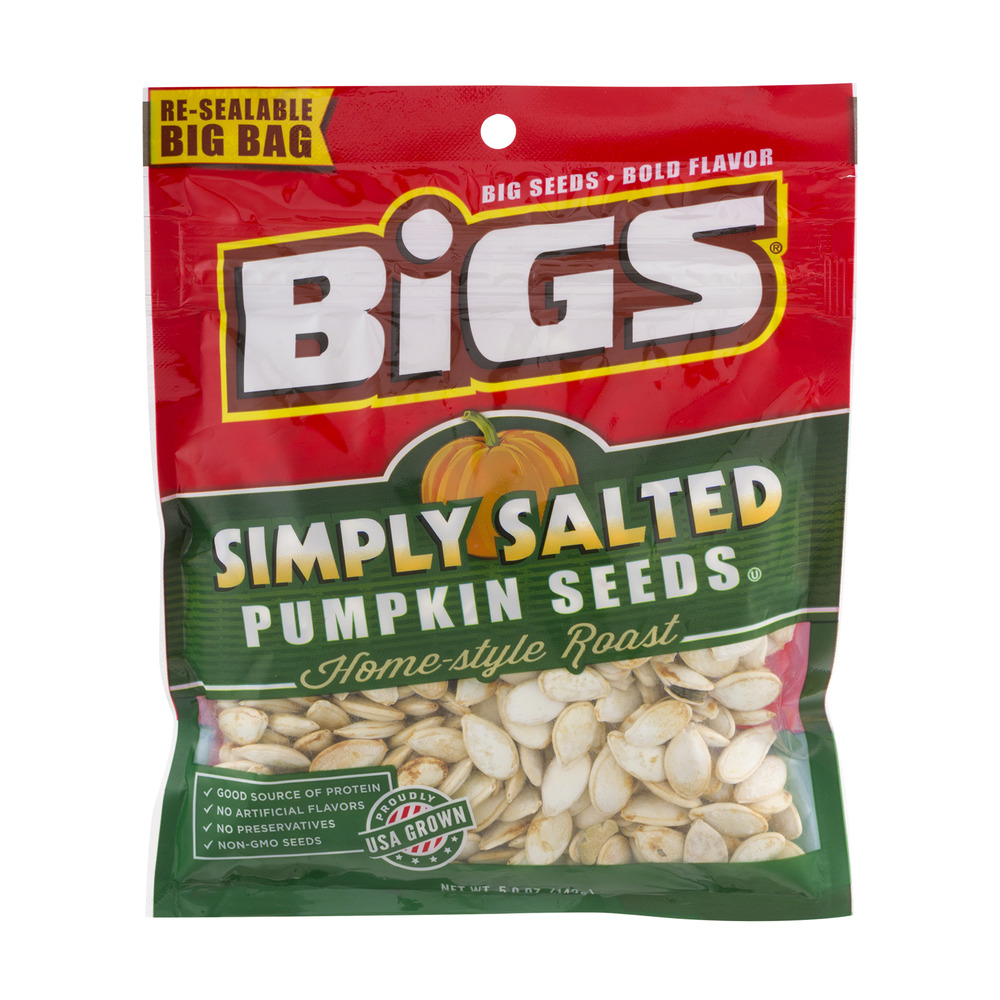 BIGS Simply Salted Homestyle Roast Pumpkin Seeds, 5-Ounce