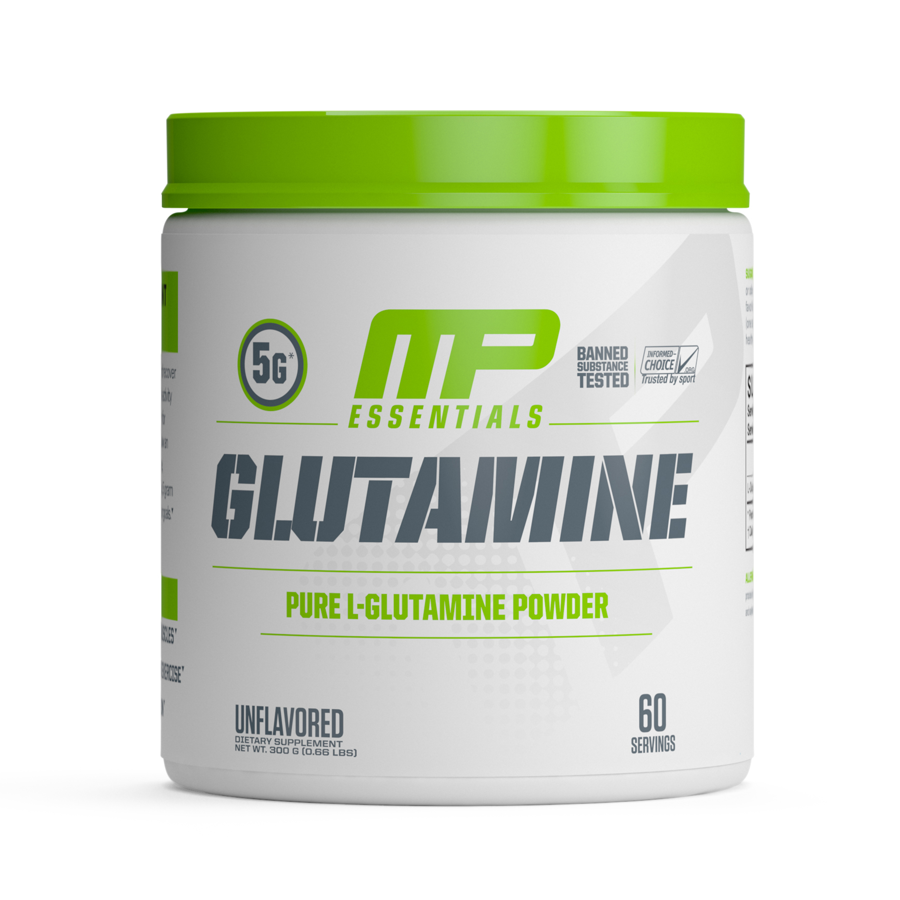 MusclePharm Glutamine Powder, Unflavored, 60 Servings