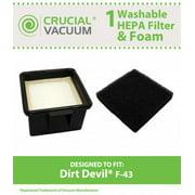 Dirt Devil F43 HEPA & Foam Filter, Part # 2PY1105000, 1PY1106000