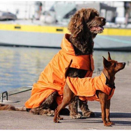 AGPtEK Waterproof Dog Winter Coat Jacket for Large Dogs - Orange XLL