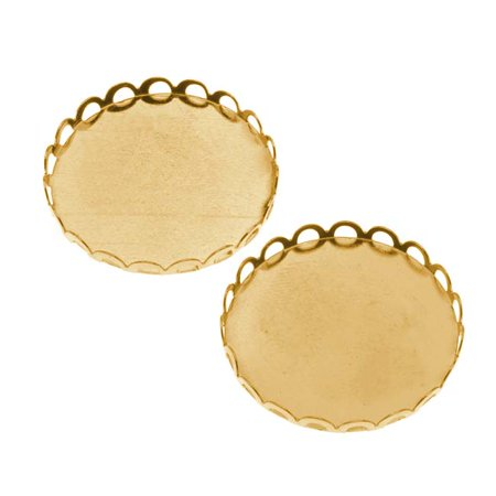- Gold Tone Round Bezel Cup Cabochon Setting 26mm (2)