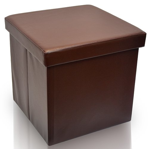 Sorbus Foldable Storage Ottoman, Collapsible/Folding Cube Ottoman With  Coveru2013Perfect Hassock,