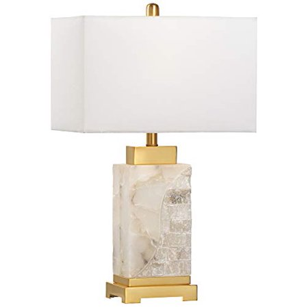 Wildwood Park Place Natural White Alabaster Table Lamp ()