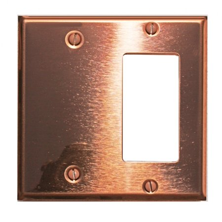 - Switchplate Bright Solid Copper GFI/Blank | Renovators Supply