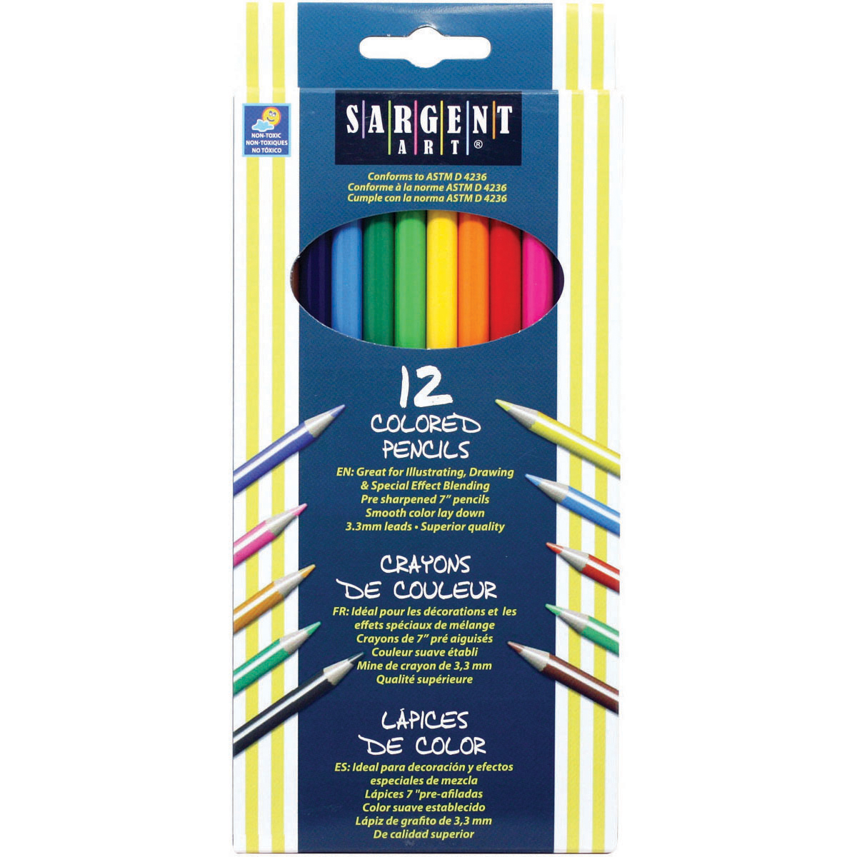 SARGENT ART COLORED PENCILS 12/SET