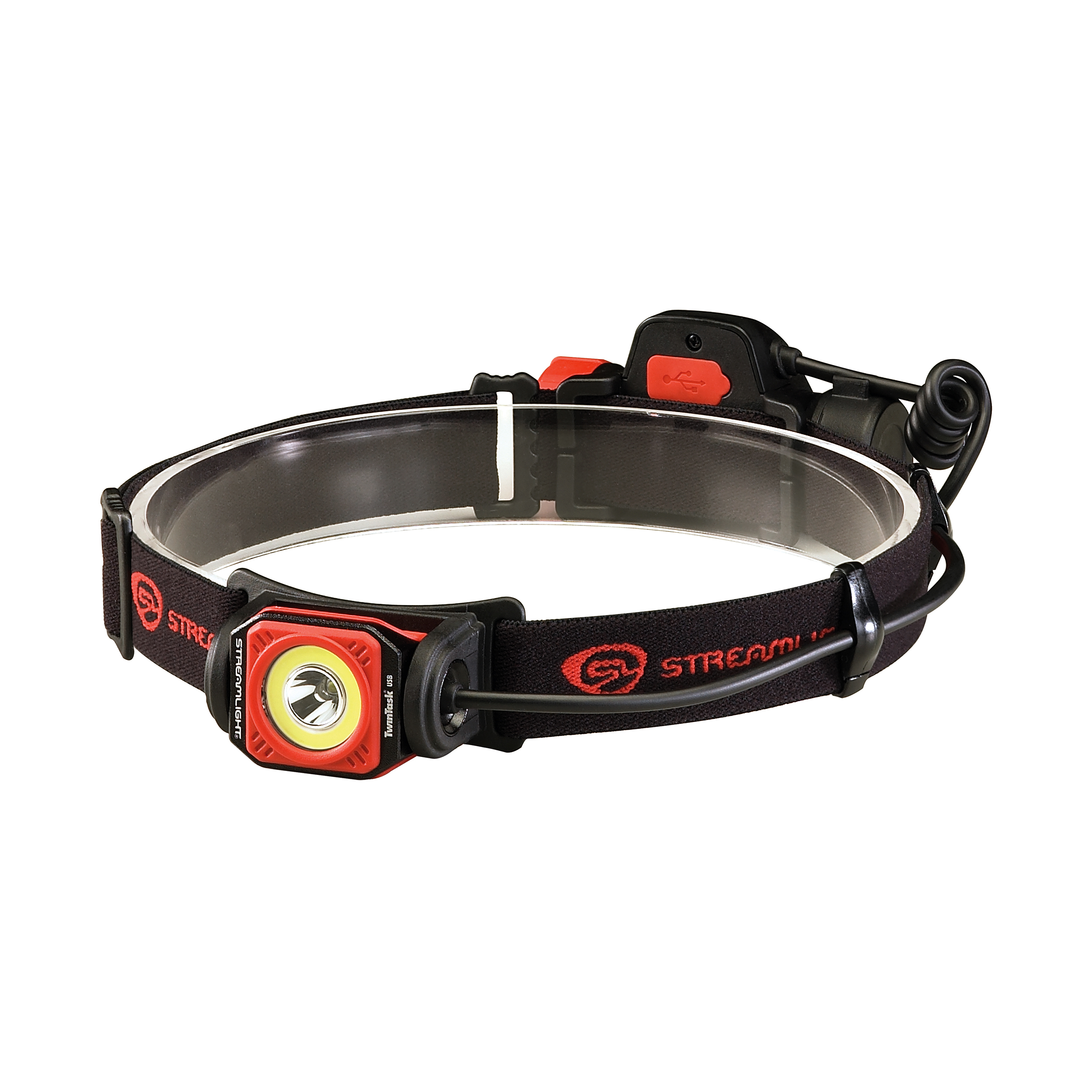 Streamlight Twin-Task USB Headlamp Black/Red, Clam Package