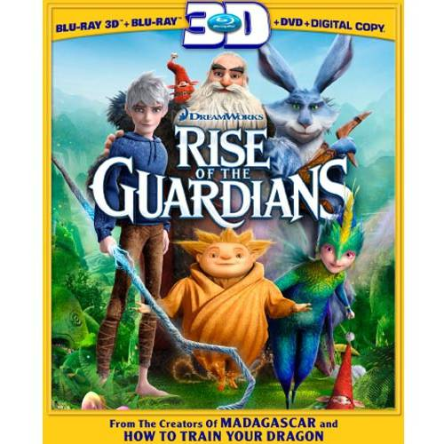Rise Of The Guardians (3D Blu-ray + Blu-ray + DVD + Digital Copy) (With INSTAWATCH) (Widescreen)