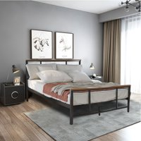 Clearance! Full Size Metal Bed Frame, Modern Platform Bed Frame with Headboard and Footboard, Heavy Duty Mattress Foundation with Metal Slat Support, No Box Spring Needed, 330lb, Full, Q12795