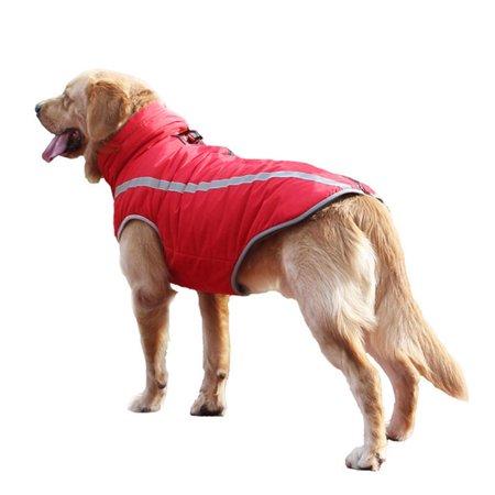 Dog Wedding Outfits (Warm Winter Pet Coat Dog Waterproof Reflective Jacket Vest for Small Medium Large Dogs)