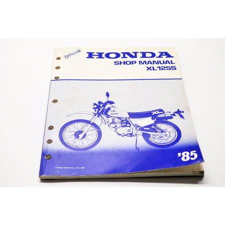 Honda MSKBI851I Official Service Shop Manual XL125S 85 QTY 1 ()