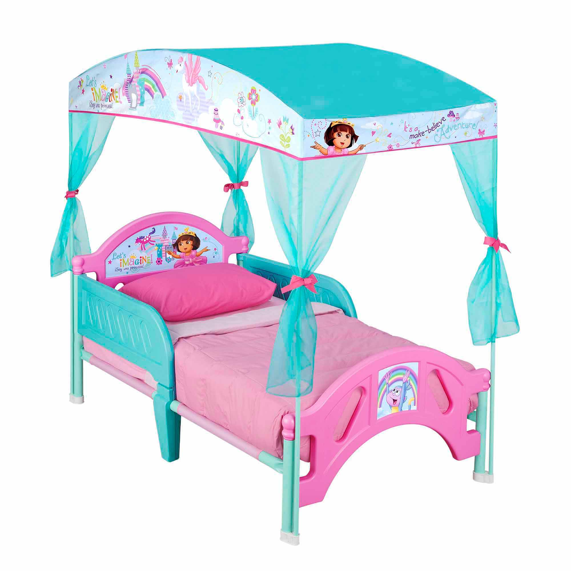 Dora the Explorer Plastic Toddler Bed with Canopy