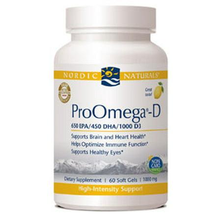Nordic Naturals ProOmega-D™ Lemon Flavor 1000 mg 60 gels