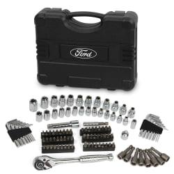"""Ford Motor Company FMCFHT0460 110 Pc 1/4"""" & 3/8"""" Socket Set"""