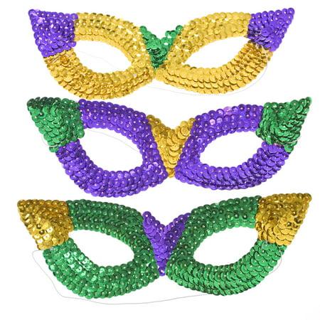 Mardi Gras Sequin Harlequin Mask (Sequin Mardi Gras Eye Mask)