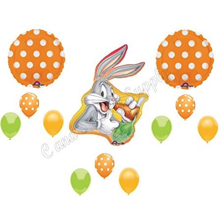 BUGS BUNNY LOONEY TUNES Happy Birthday Balloons Decoration Supplies Baby Shower (Happy Tree Baby Shower Decorations)