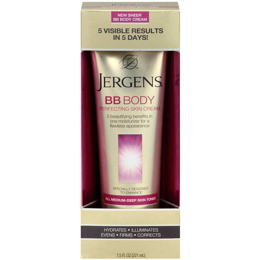 Jergens BB Body Perfecting Skin Cream, Medium-Deep Skin Tones7.5 fl oz