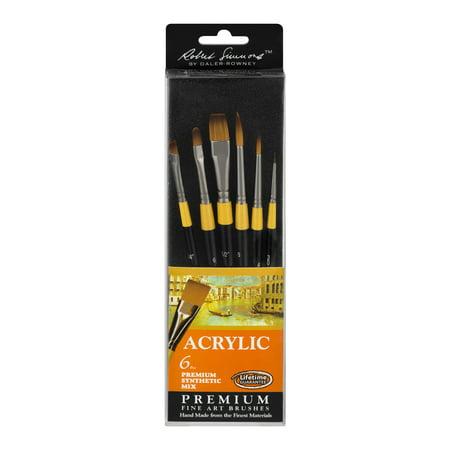 - Daler-Rowney Robert Simmons Acrylic Premium Fine Art Brush Set, 6 Piece