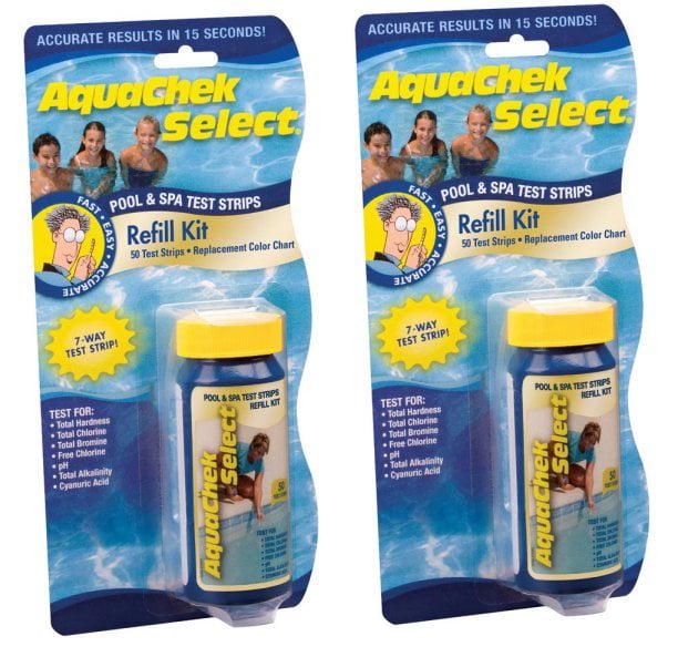 100) New AQUACHEK Select Refill Swimming Pool Spa 7 Test Strips pH/Chlorine