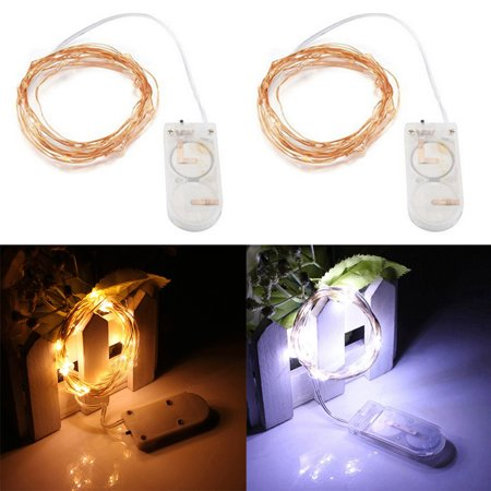 2m/6.56ft 20LED Copper Wire String Lights Button Battery Box Waterproof Copper Color Wire High Quality Light Switch Indicator China Light Word Suppliers Cheap Light for Piano LED Switch