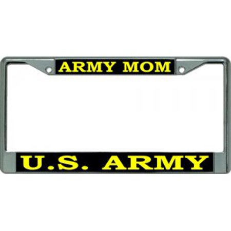 Army Mom Chrome License Plate Frame