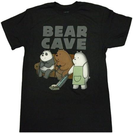 Bare Bottom Bear (We Bare Bears - Bear Cave Adult T-Shirt)