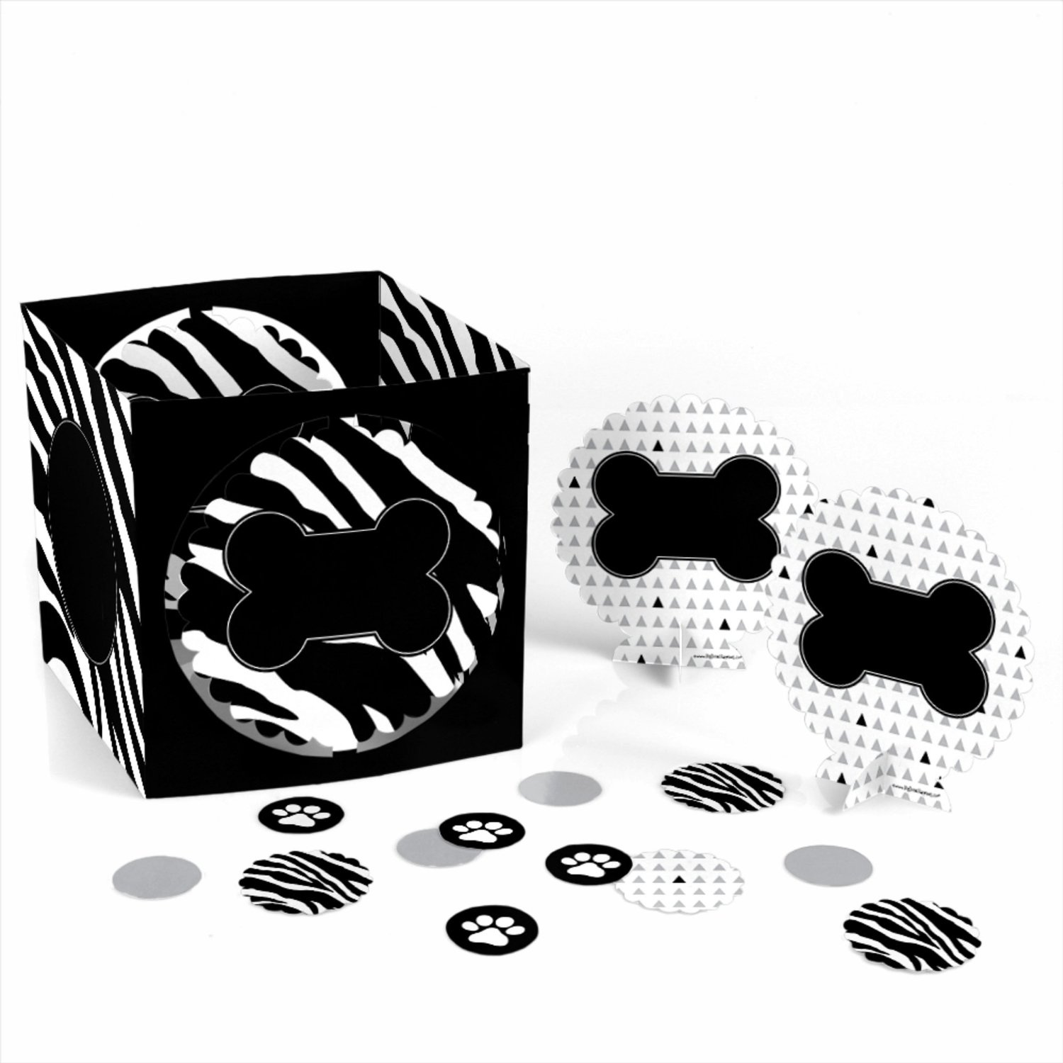 Zebra - Dog Party Table Decorating Kit