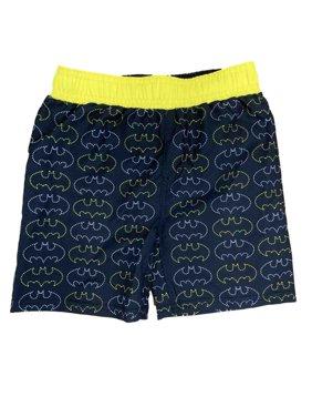 Batman Yellow & Black Toddler Boys Swim Trunks Board Shorts