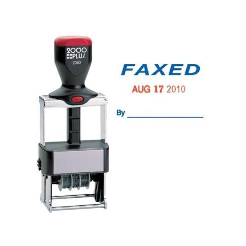 Cosco COSCO ClassiX Self-Inking FAXED Message/Date Stamp COS032879