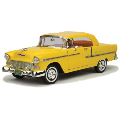 Yellow 1955 Chevy Bel Ari 1:18 Scale Die Cast Car by Motor Max