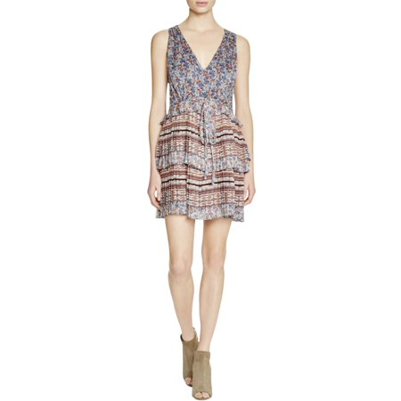 Twelfth Street by Cynthia Vincent Womens Tiered Pleated Casual Dress Multi - Cynthia Vincent Shorts