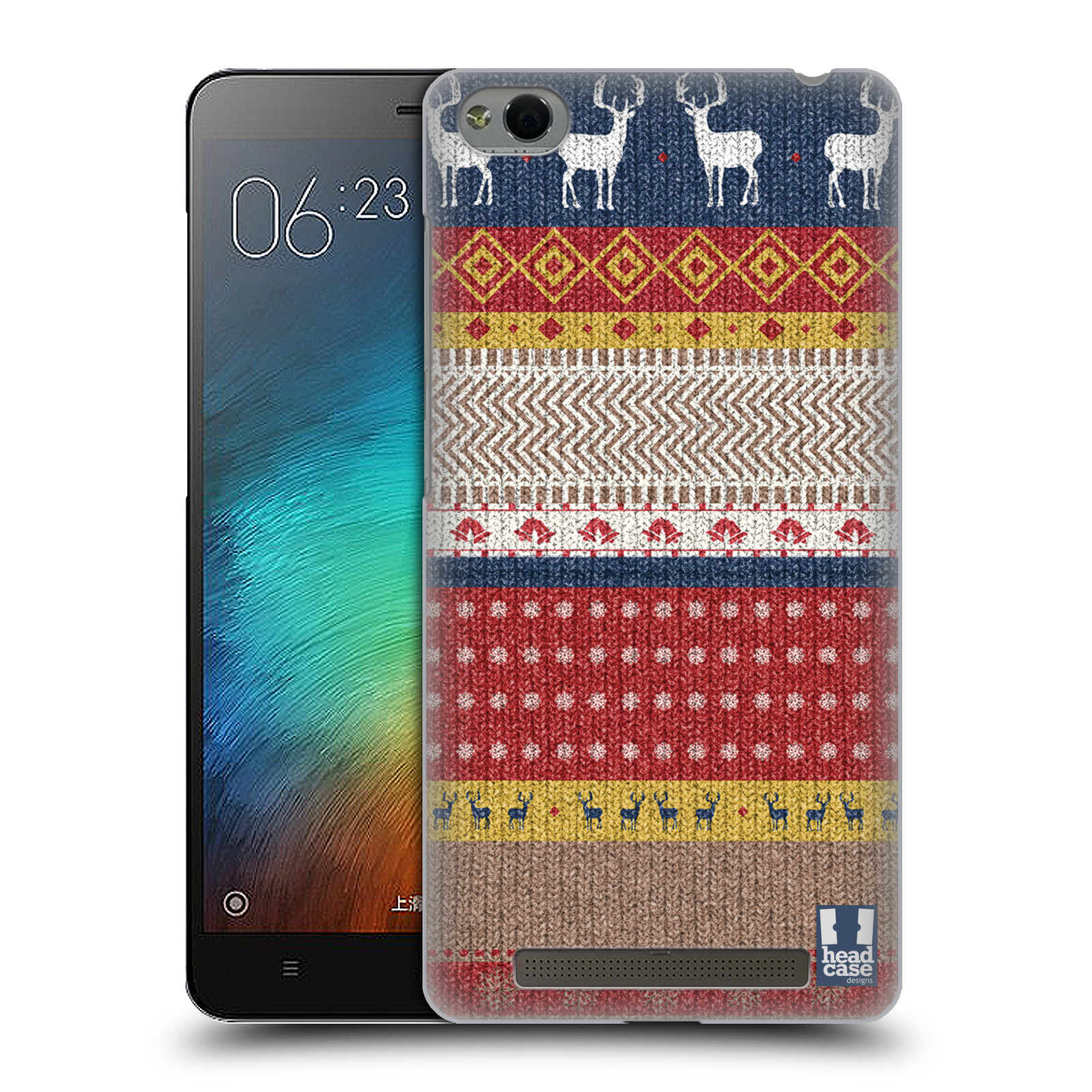 HEAD CASE DESIGNS KNITTED CHRISTMAS HARD BACK CASE FOR XIAOMI PHONES