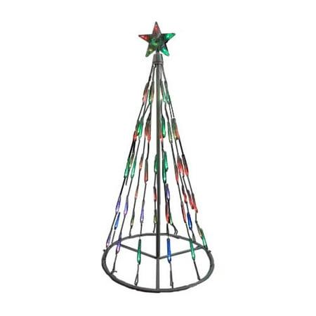 Northlight Seasonal Single Tier Bubble Cone Christmas Tree Lighted Yard Art Decoration for $<!---->