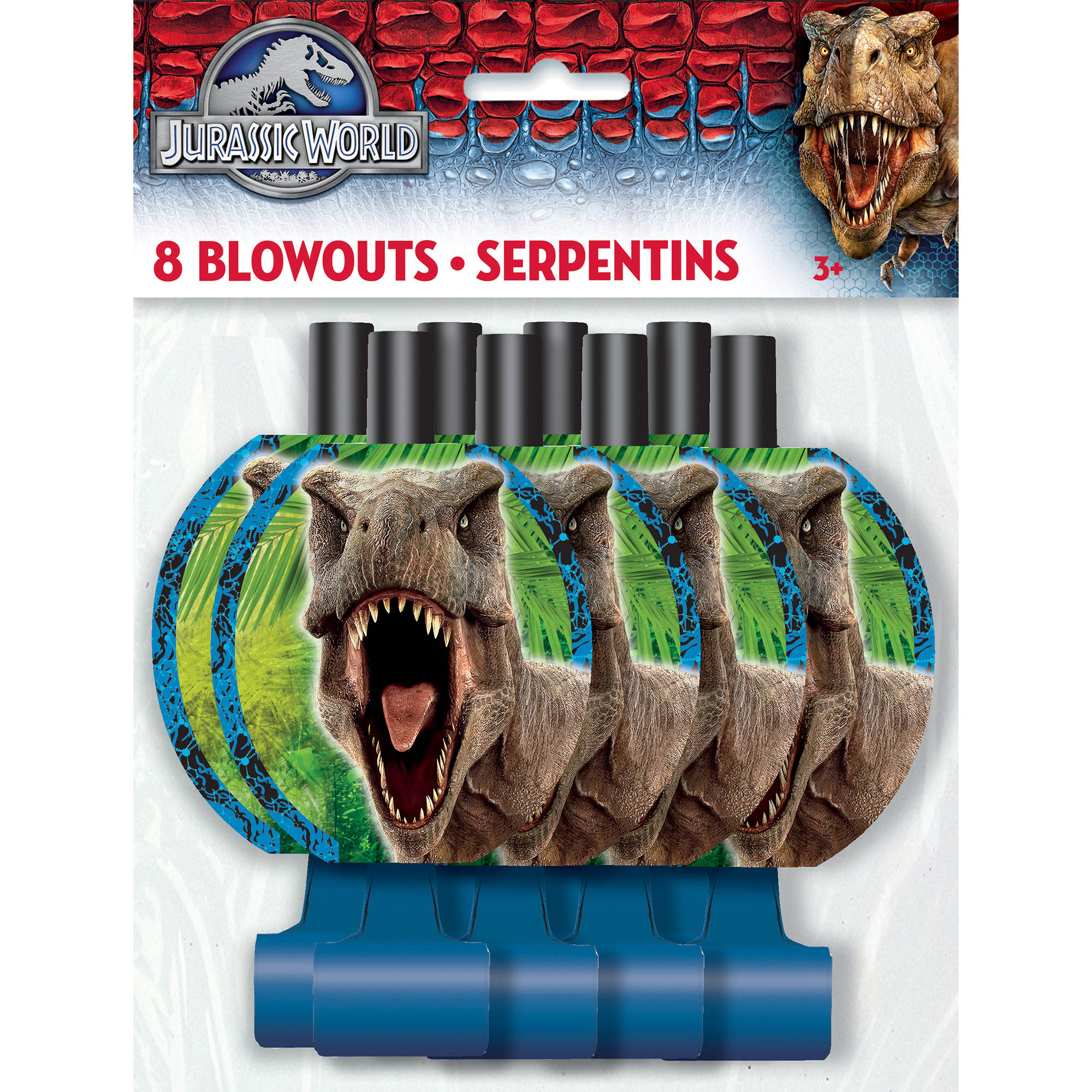 Jurassic World Party Blowers, 8ct