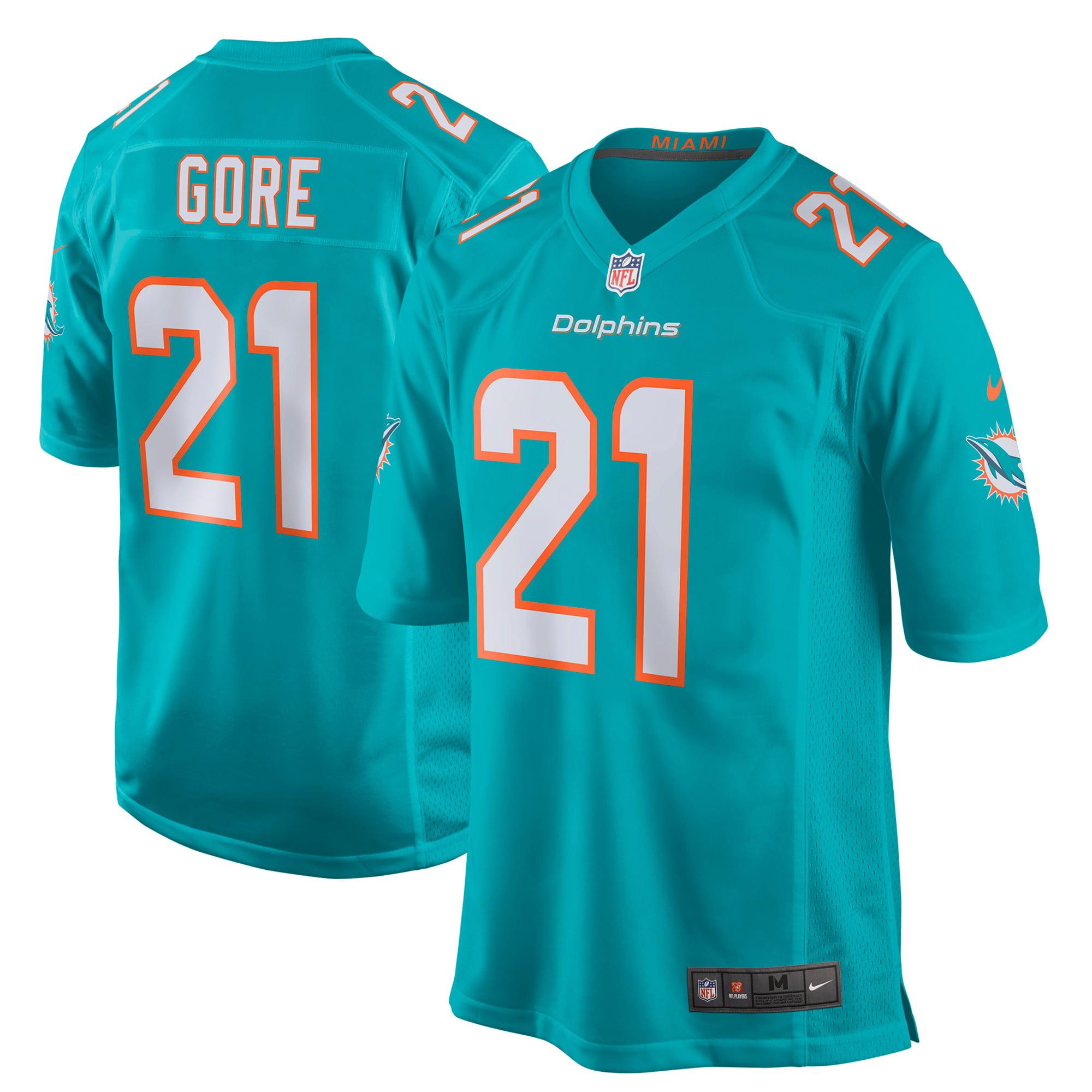 Frank Gore Miami Dolphins Nike New 2018 Game Jersey - Aqua