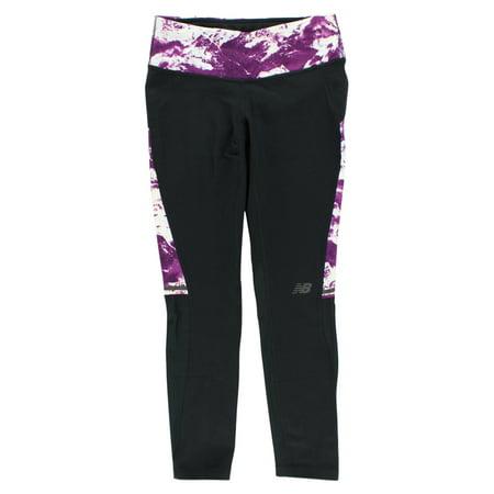 New Balance Womens Performance Fashion Crop Leggings Black