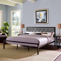 Modway Mia King Upholstered Platform Bed, Multiple Colors