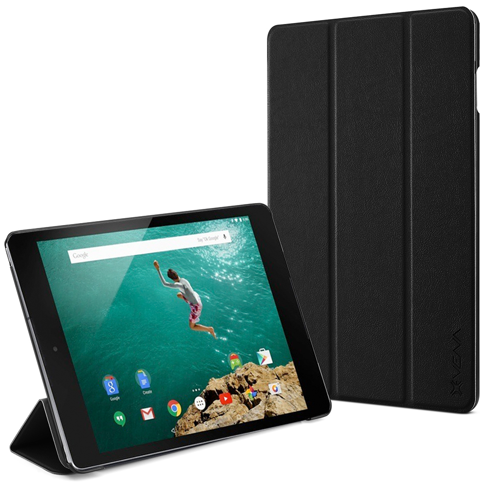 Google Nexus 9 Smart Cover - VENA [vCover] Slim Leather Auto Sleep / Wake Hard Shell Case for Google Nexus 9 Tablet (Black)