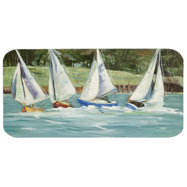 Carolines Sailboats on the Bay Kitchen or Bath Mat Runner...