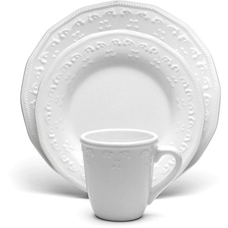 Better homes and gardens ivory scroll 16 piece dinnerware - Better homes and gardens customer service ...