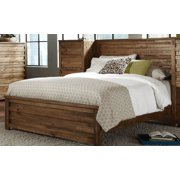 Transitional Panel Bed in Driftwood Finish (Queen - 84 in. L x 64 in. W x 2 in. H)