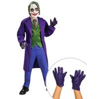 Boy's Deluxe Joker Costume and The Joker Gloves for Child
