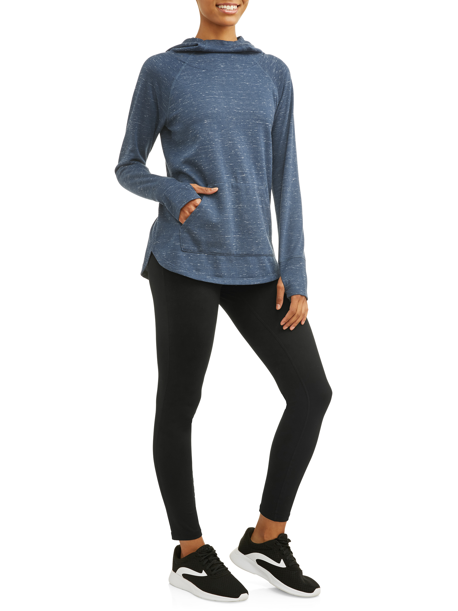 1bff10f30 Athletic Works - Athletic Works Women's Active Soft Fleece Hoodie & Lux  Workout Legging Gift Set - Walmart.com