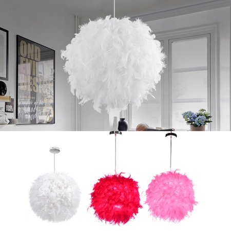 Modern Luxury Feather Ball Ceiling Chandelier Pendant Light Droplight For Home Decor Home Living Room Bedroom Corridor Or Great Hotels Christmas