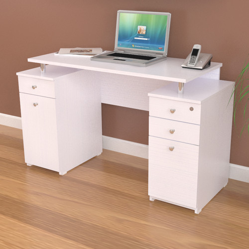 Inval Laura Computer Desk with Accessory Drawers by Inval