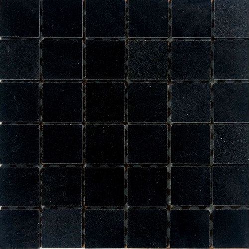 Epoch Architectural Surfaces 2'' x 2'' Granite Mosaic Tile in Absolute Black