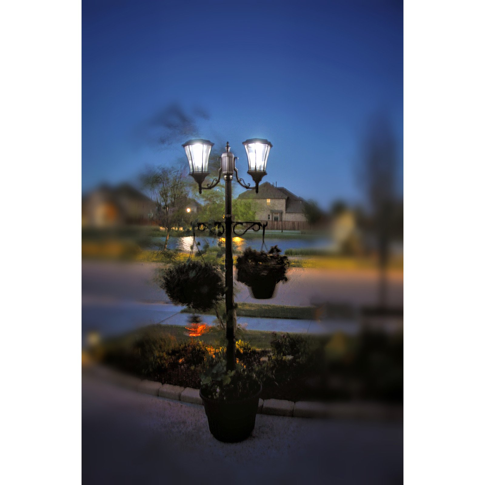 Sun-Ray Martens Solar Lamp Post and Planter by Overstock